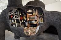 Gilles Barbier_Le Terrier 2005_technique mixte_420x250x300cm_vue expo ICI, AILLEURS, panorama, Friche Belle de Mai, Marseille. (c) Clementine Crochet_Courtesy gal